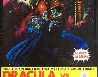 Pressbook Dracula VS Frankenstein Dir  Al Adamson 1971