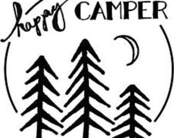 happy camper decal