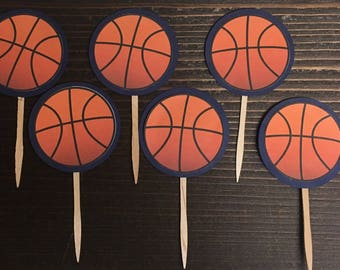 Basketball Cupcake Topper/ Sports Theme Birthday/ Gender Reveal Party/ Buckets or Bows/ Baller or Ballerina