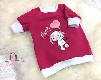Shirt sweater with bunnies children