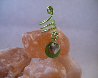 Green and gold dread bead