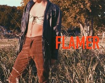 Studded Western Fringe Jacket