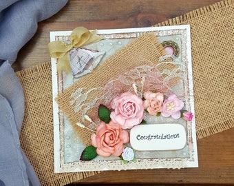 Congratulations Card,Handmade Card,Any Occasion