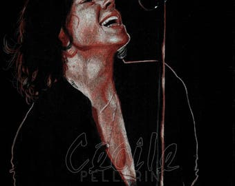 Colored pencil drawing of Harry Styles One Direction / drawing pencils Harry Styles One Direction