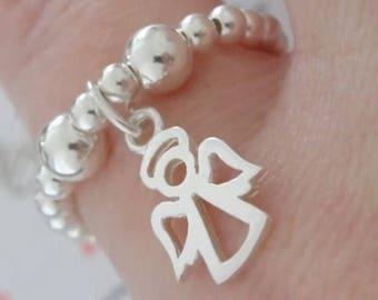 Beautiful charm anfel stretch ring