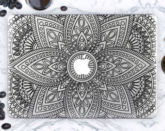 Mandala Macbook Pro Hard Case Macbook 15 inch Hard Case Ornament Macbook Air 11 Case Hard Macbook 12 Hard Cover Macbook 13 Hard Case mcn009