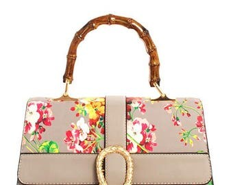 Flower Blossom Satchel with Long Strap