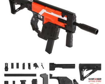 Worker MOD Kriss Vector Imitation Kit Black Combo for Nerf Stryfe