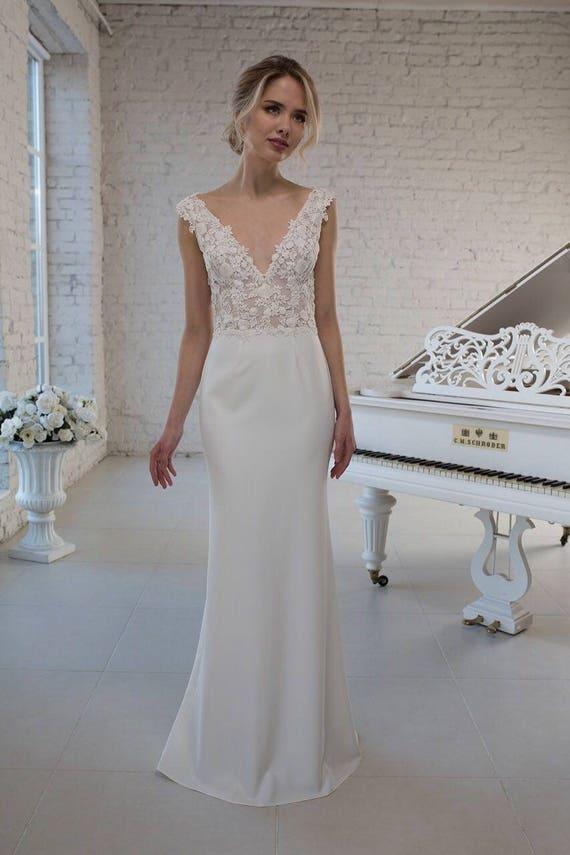 wedding dress hochzeitskleid abnehmbar volantrock removable. Black Bedroom Furniture Sets. Home Design Ideas