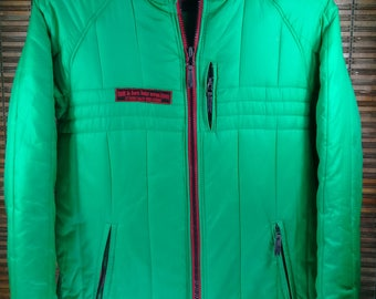 Vintage Tom.t.junior Windbreaker Jacket Green Colour Size L