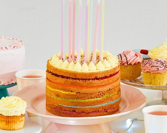 Pastel Birthday Candles, Pastel Party Candles, Tall Birthday Candles, Pastel Cake Candles, Pastel Party Decor