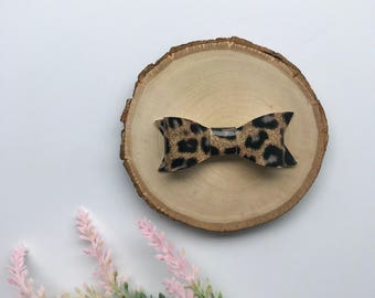 Rose Gold Leopard Print Bow, Leopard Print Bow