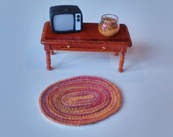 Dollhouse Miniature Couched Rug 1/12th Scale