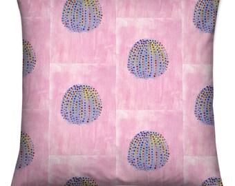 Soft Cushion- Blue Anemone on Pink