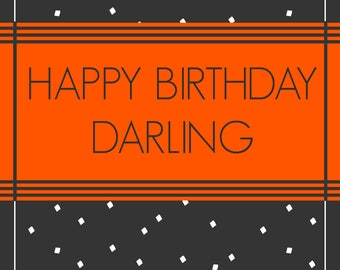 Happy Birthday Darling [6 Pack of Cards]