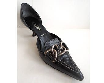 Vintage Prada shoes. Vintage Prada shoes. designer shoes. girls gift. made in Italy.