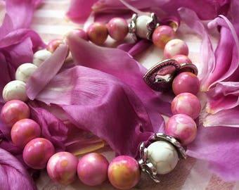 Nephritics bracelets (pink &blue)