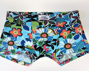 Handmade Men's Underwear Organic Cotton Boxer Briefs #Flowerjungle