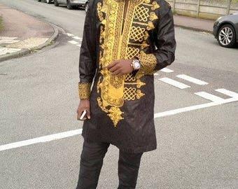 African Mens Wear/Ankara Mens Outfit /Ankara Men's Clothing Express Shipping
