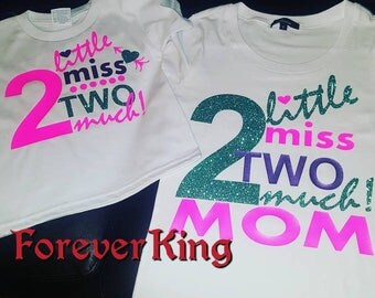 Mommy and daughter custom birthday shirts