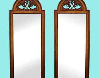 Mid-Century Pair of Arch Shape Gilded Mirrors - Hollywood Regency Mirror