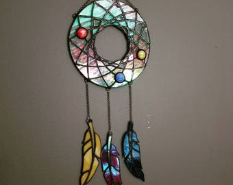 Dream Catcher, Stained Glass, Sun Catcher, Home decor