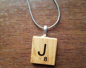 Scrabble Tile Necklace Pendant