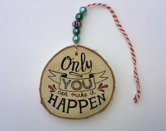 Wooden hanger • YOU • wooden pendant-beads-beads-gift for her-decoration-decoration-really miek