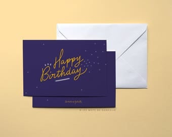 Strand - 10 x 15 cm - Happy Birthday birthday card