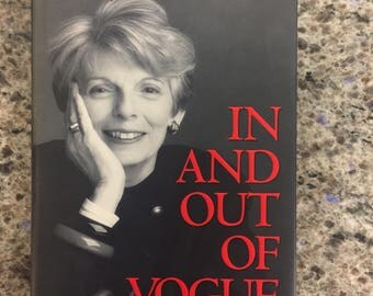"""VOGUE FASHION INDUSTRY Grace Mirabella In And Out Of Vogue A Memoir Hard Cover Book *""""Free Shipping""""*"""