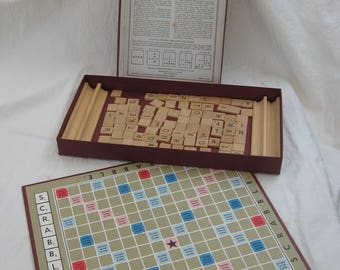 Vintage Scrabble Game by Selchow & Righter Co. 1950's or earlier