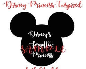 Disney's Forgotten Princess SVG File for Shirts, Mugs, Cricut