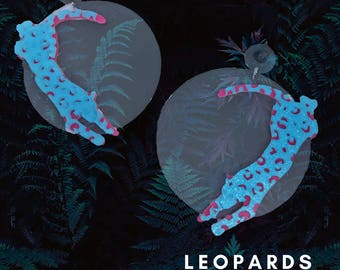 80s Leopard Earrings