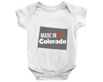 Made in Colorado Onesie, Made in Colorado Bodysuit, CO Onesie, Colorado Baby Onesie, Colorado Gift, Baby Shower Gift, Newborn Colorado Gift