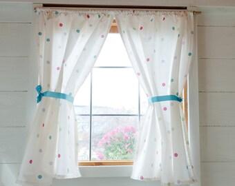 Candy spot playhouse curtains