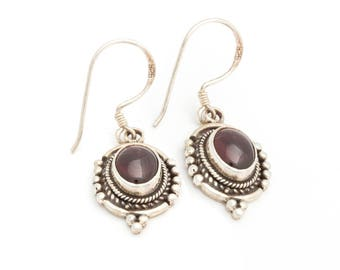 Warm of Amethyst Shines With Sterling Silver Earrings