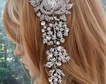 Bridal Hair Jewelry, Wedding Hair Jewelry, Rhinestone Hair Jewelry, Crystal Hair Jewelry, Silver Hair Jewelry, Gold Hair Jewelry