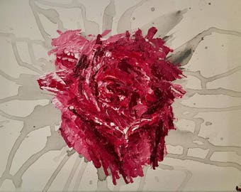 Rose Bleed - Original Acrylic Painting Prints