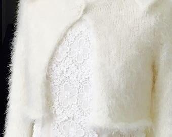 1950s Inspired Handknitted Bridal Bolero