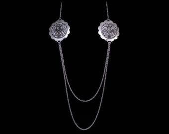 "Set of necklace and earrings ""Otrazheniye"""