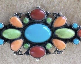 Native American Leo Feeney multi cluster pin