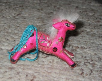 Pink Embroidered horse