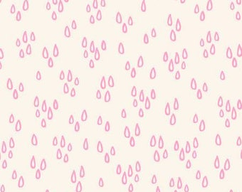 Pink Raindrops Notepad by Another Point of View Collection In Geometric