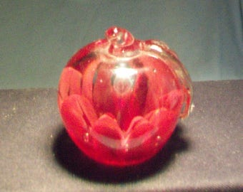 Smaller Joe St. Clair Red Apple Paperweight