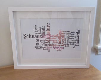 Personalised Word Art Frame