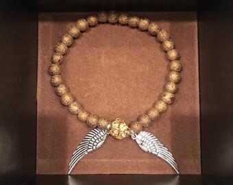 Gold Nugget Bead Bracelet