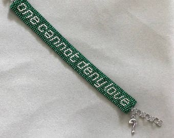 One Cannot Deny Love - Green Beaded Bracelet