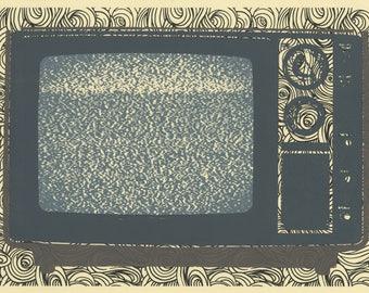 Static, original silkscreen 11x15 inch inkjet print