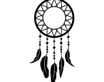 Dreamcatcher with Beads and Feathers Decal~