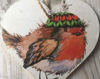 Robin Noël, décoration murale, décoration coeur, suspension décor